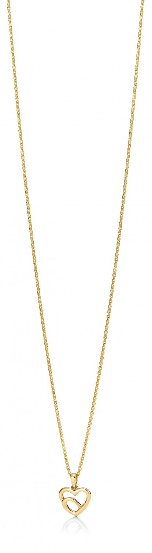 Image of   Aagaard 8 kr vedhæng med forgyldt sølv kæde - 04303895-45