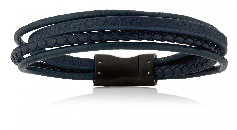 Billede af Aagaard Herre læderarmbånd med stål lås - 07104220-21 21 centimeter