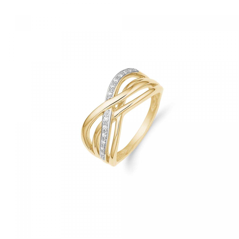 Aagaard 8 kt ring med zirkonia - 08623133-75 Størrelse 56