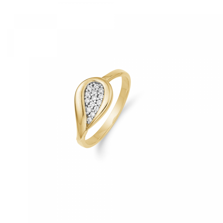 Image of   Aagaard 8 kt ring med zirkonia - 08623184-75 Størrelse 54