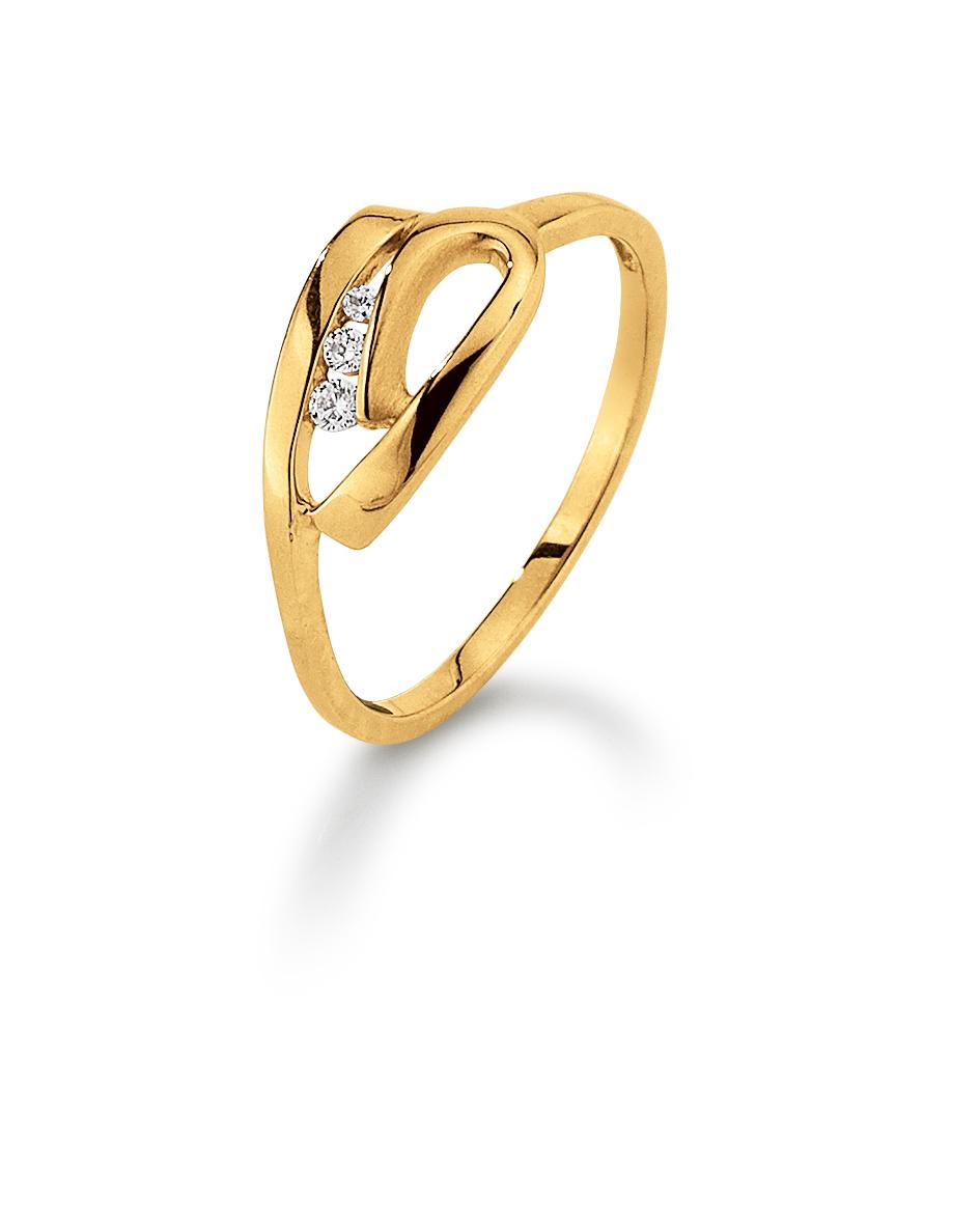 Aagaard 8 kt ring med zirkonia - 08623716-75 Størrelse 56