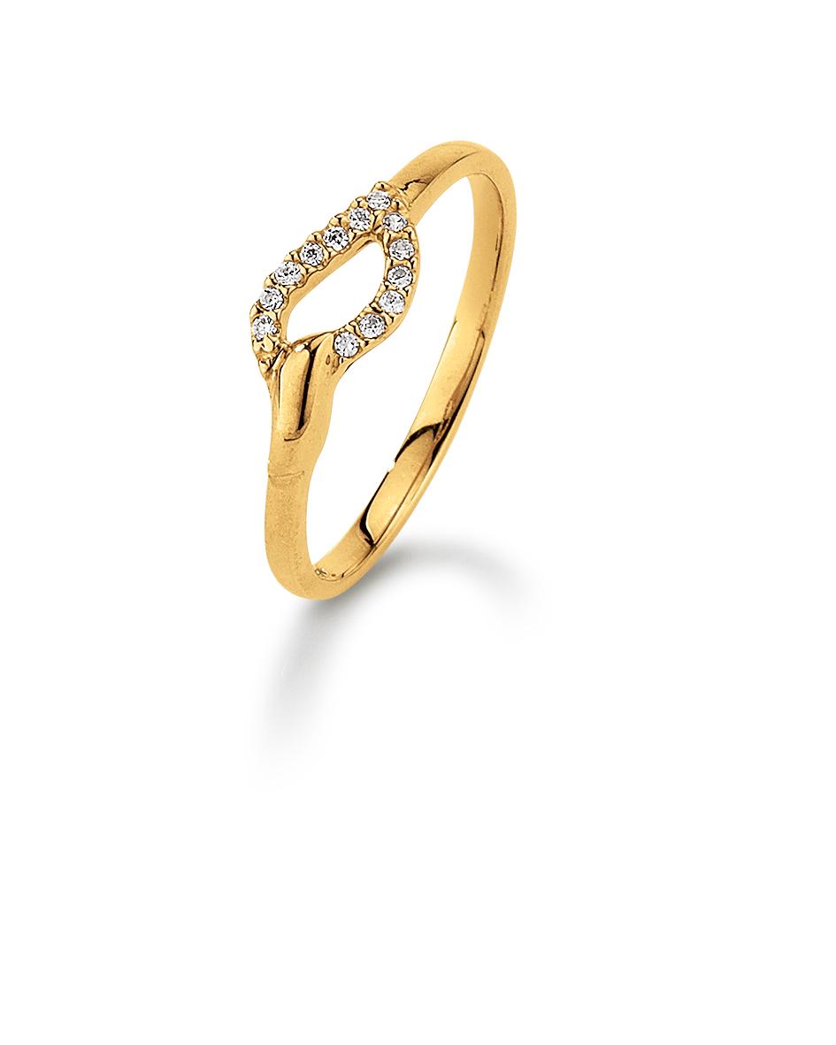Image of   Aagaard 8 kt ring med zirkonia - 08623718-75 Størrelse 54