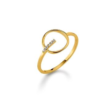 Image of   Aagaard 8 kt ring med synt. zirkonia - 08623748-75 Størrelse 52
