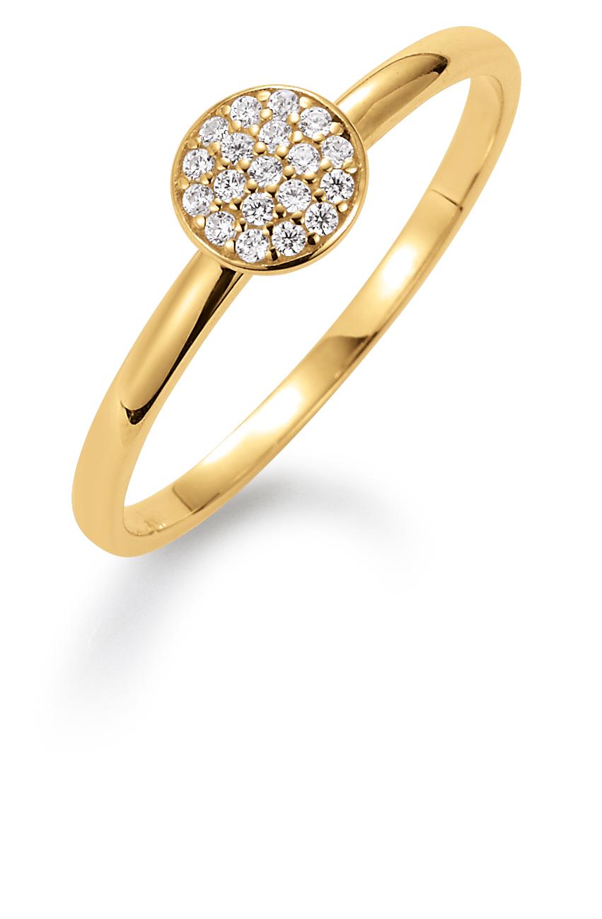 Image of   Aagaard 8 kt ring med zirkonia - 08623956-75 Størrelse 56