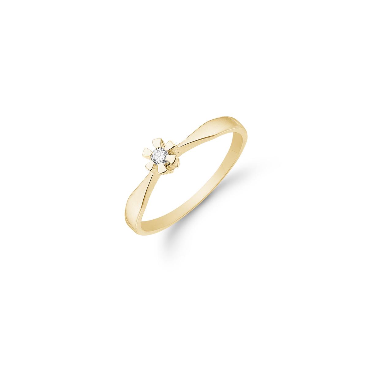 Image of   Aagaard 8 kt ring 0,03ct - 08649903-34 Størrelse 56