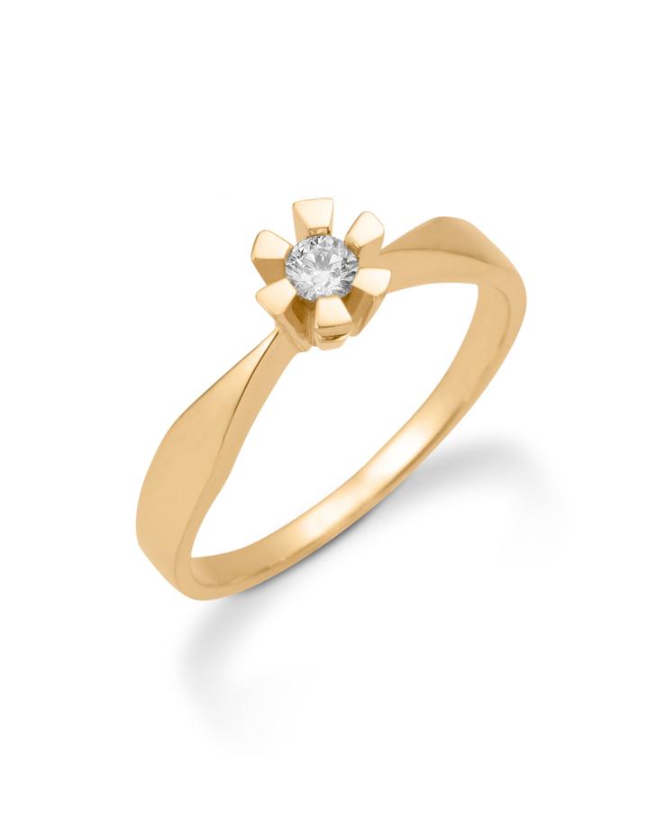 Image of Aagaard 8 kt ring med brilliant - 08649905-34