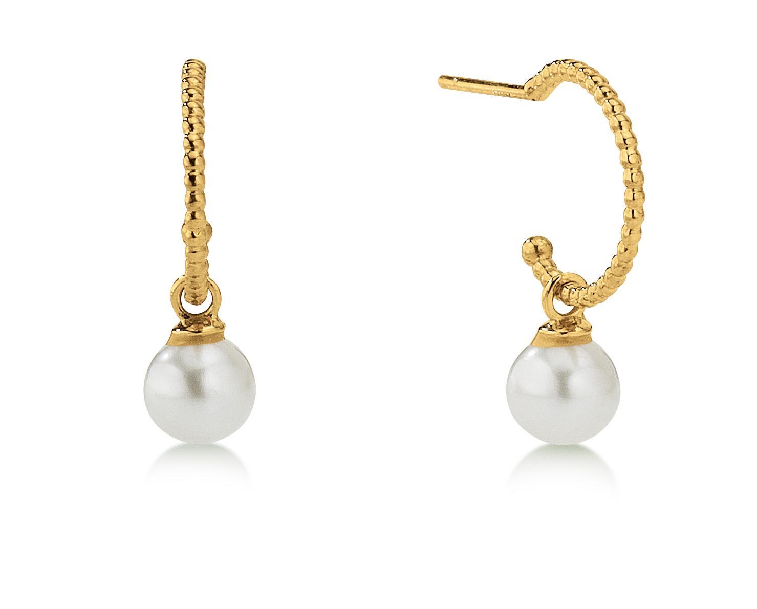 Image of   Aagaard 8 kt creol med perle - 08993675-31