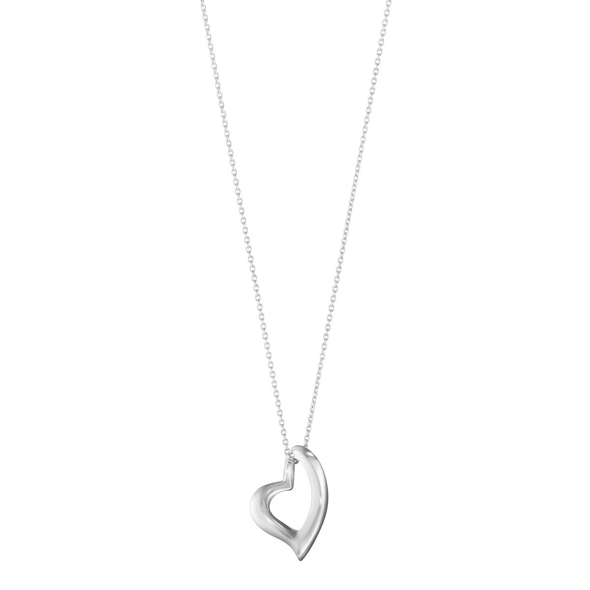 Georg Jensen Heart sølv halskæde - 10012161