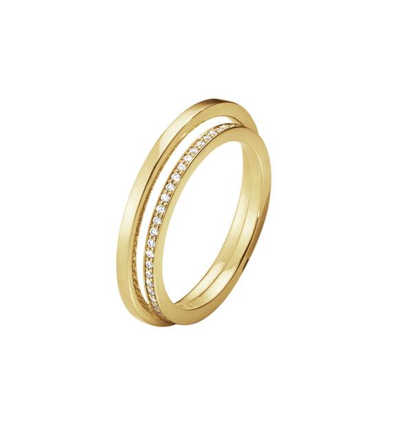 georg jensen Georg jensen halo ring med enekelt pavé - 10014072 størrelse 56 fra brodersen + kobborg