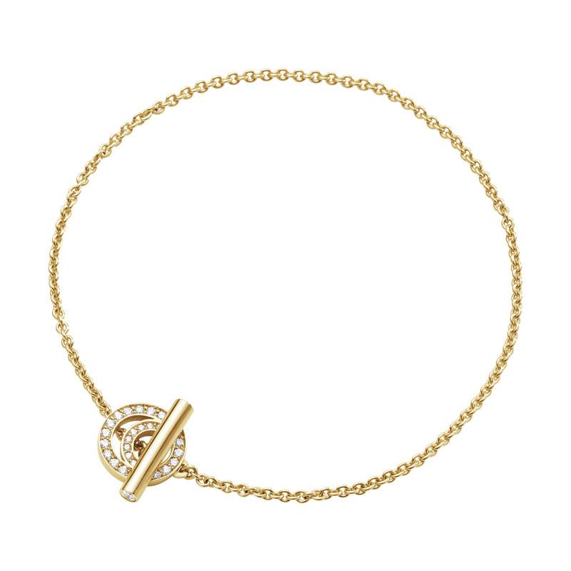 Georg Jensen Halo armbånd med diamant pavé - 10014134 S/M - 18 centimeter