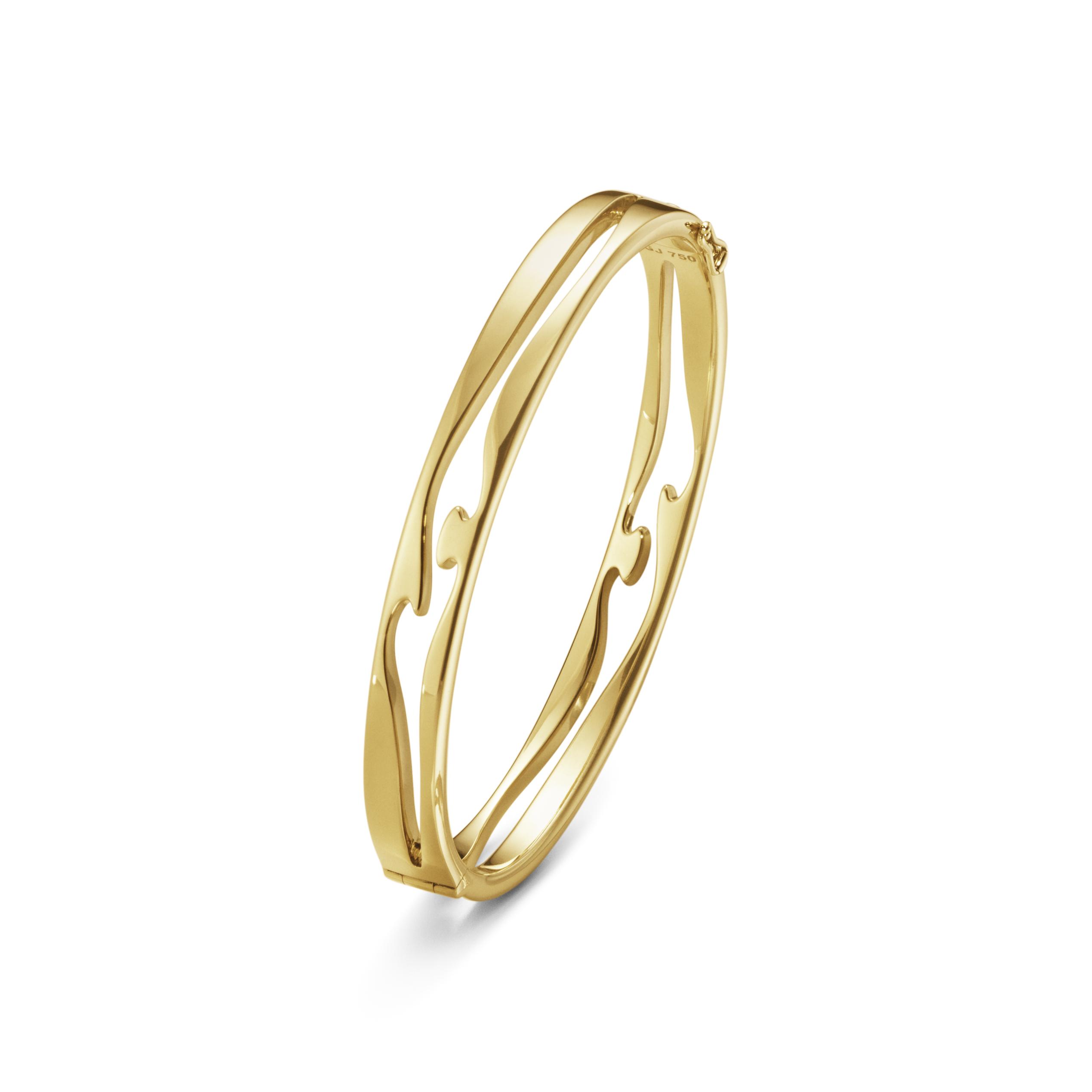 Georg Jensen FUSION åben armring guld - 10016440 Armring størrelse M