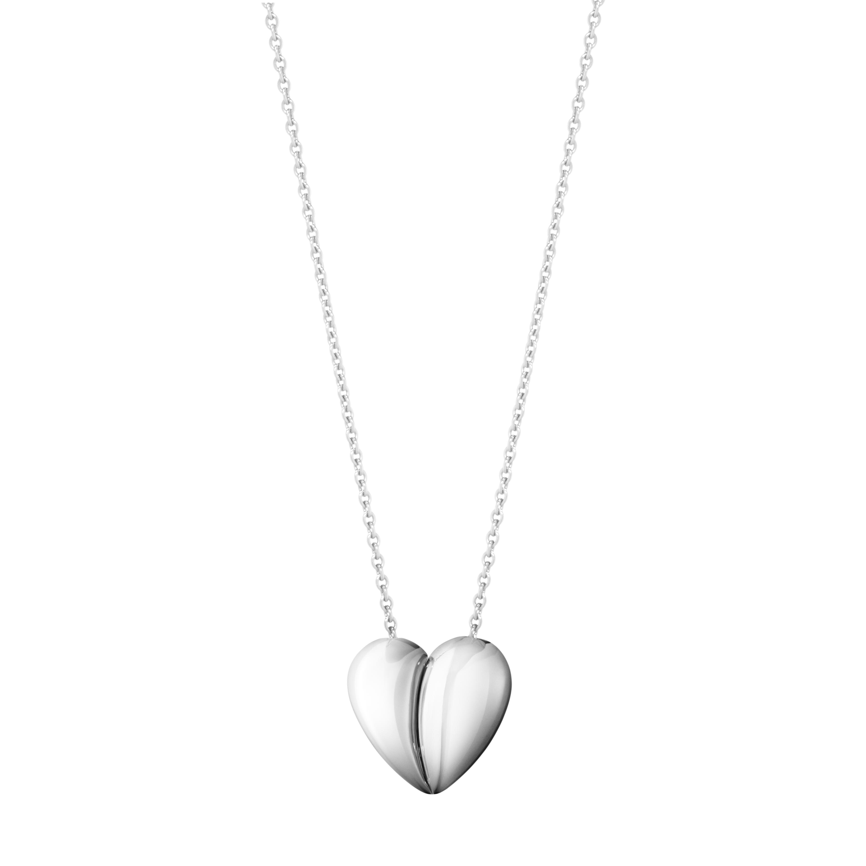 Image of Georg Jensen Curve Heart halskæde - 10017504