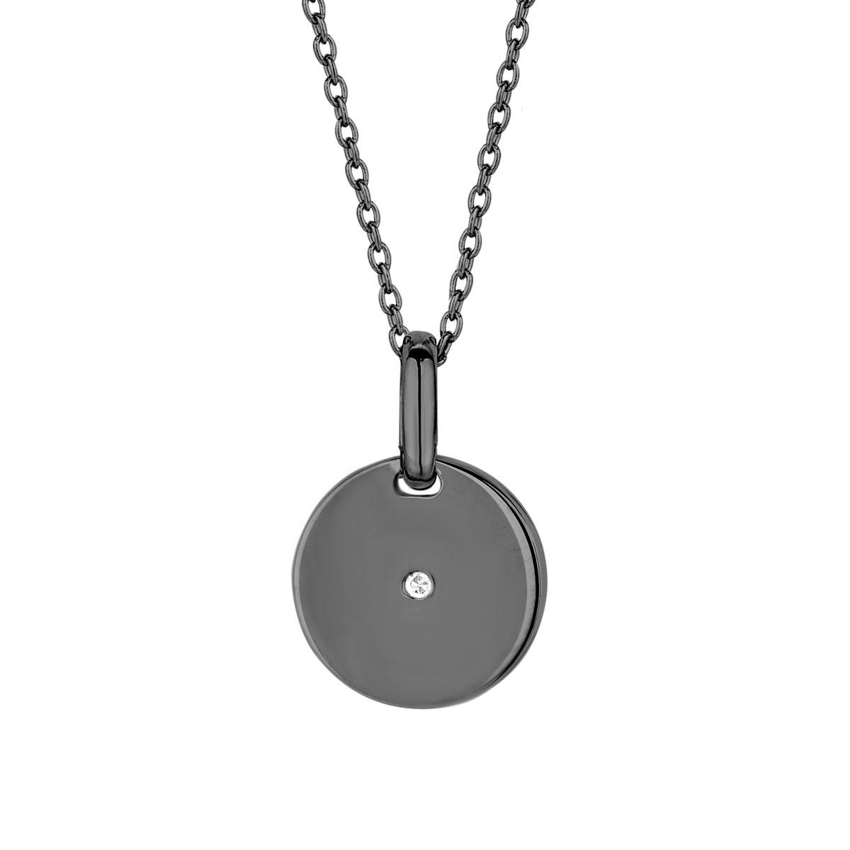 Image of   Spirit Icons pulse vedhæng med diamant og kæde - 10383-45
