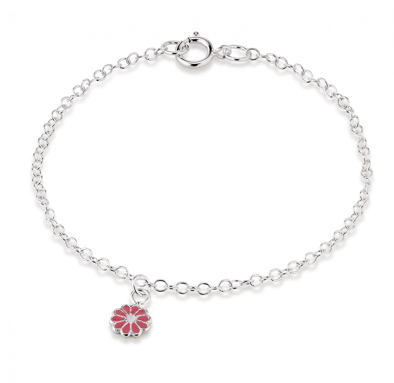 aagaard – Aagaard sølv armbånd med blomst - 11103800-16 på brodersen + kobborg