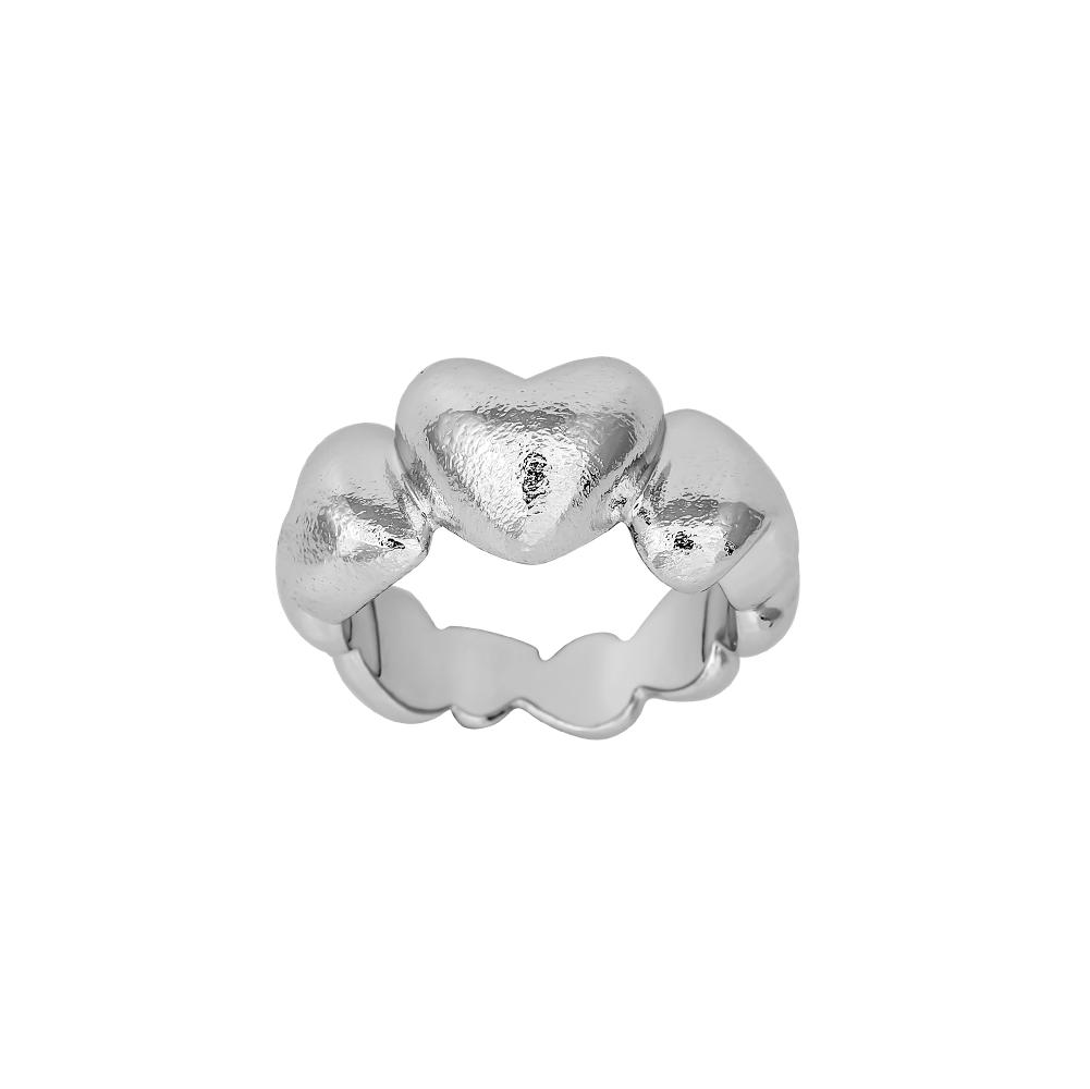 Image of SHAPE sølv rhodinert hjerte ring - 112-000 Størrelse 54