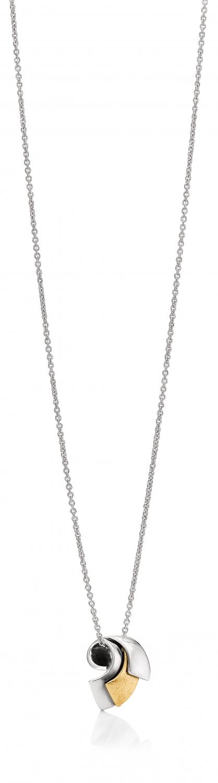 Image of   Aagaard Sølv collier med 14 kt - 11303843-45