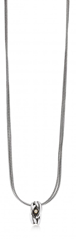 Image of   Aagaard Sølv halssmykke med diamant og 14 kt guld - 11333863-45