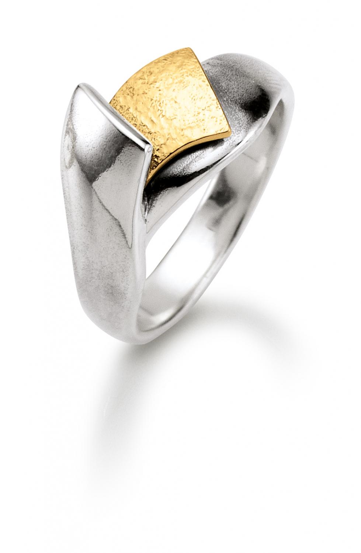 Image of   Aagaard Sølv ring med 14 kt - 11613843 Størrelse 56