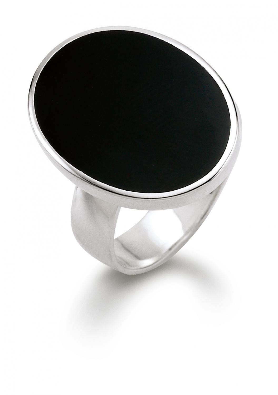 Aagaard Sølv ring med onyx sten - 11633833-29 Størrelse 52