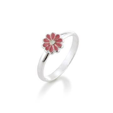 Image of   Aagaard Børne sølv ring m/emalje blomst - 11693800-97 Størrelse 42