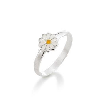 Image of   Aagaard Børne sølv ring m/emalje blomst - 11693801-97 Størrelse 44