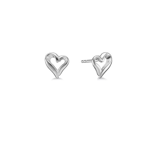 Image of   AAGAARD sølv ørestikker Hjerte - 11912753