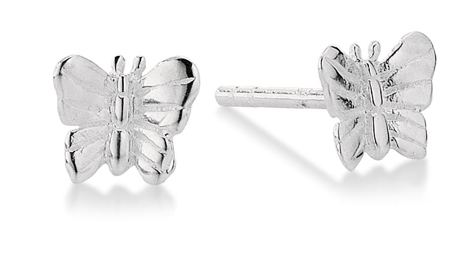Aagaard Sølv ørestikker sommerfugl - 11913810
