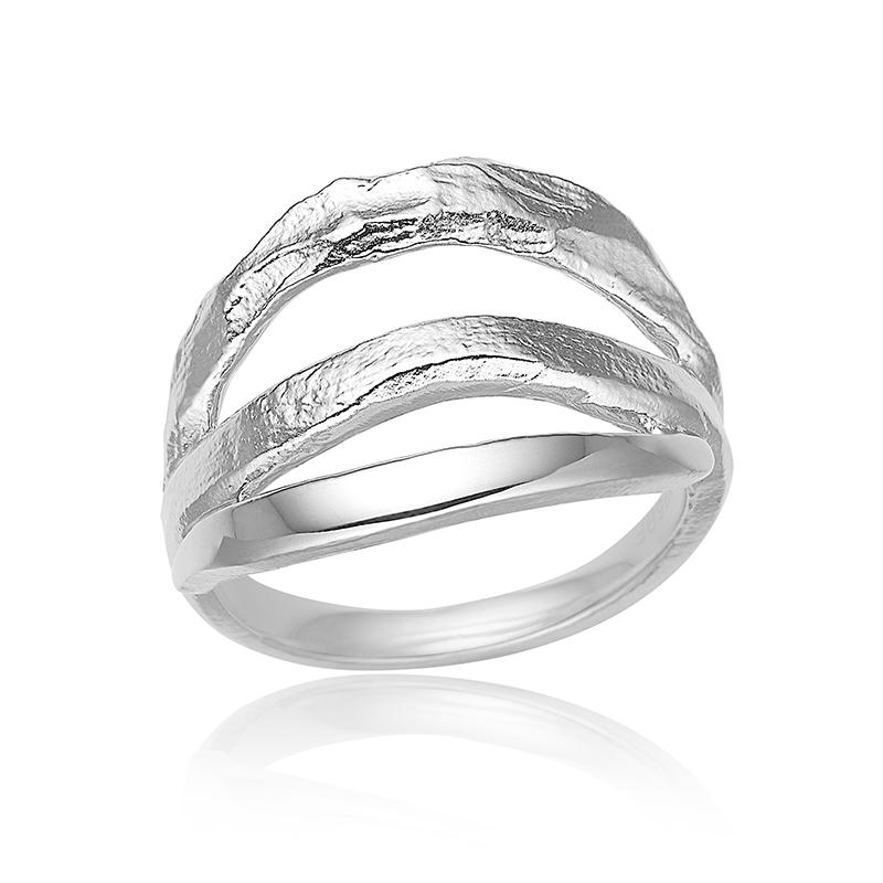 blicher fuglsang Blicher fuglsang sølv ring - 1325-00r størrelse 55 fra brodersen + kobborg
