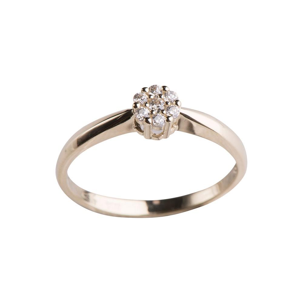 Image of   8 kt ring med zirkonia - 142 1346CZ3 Størrelse 55
