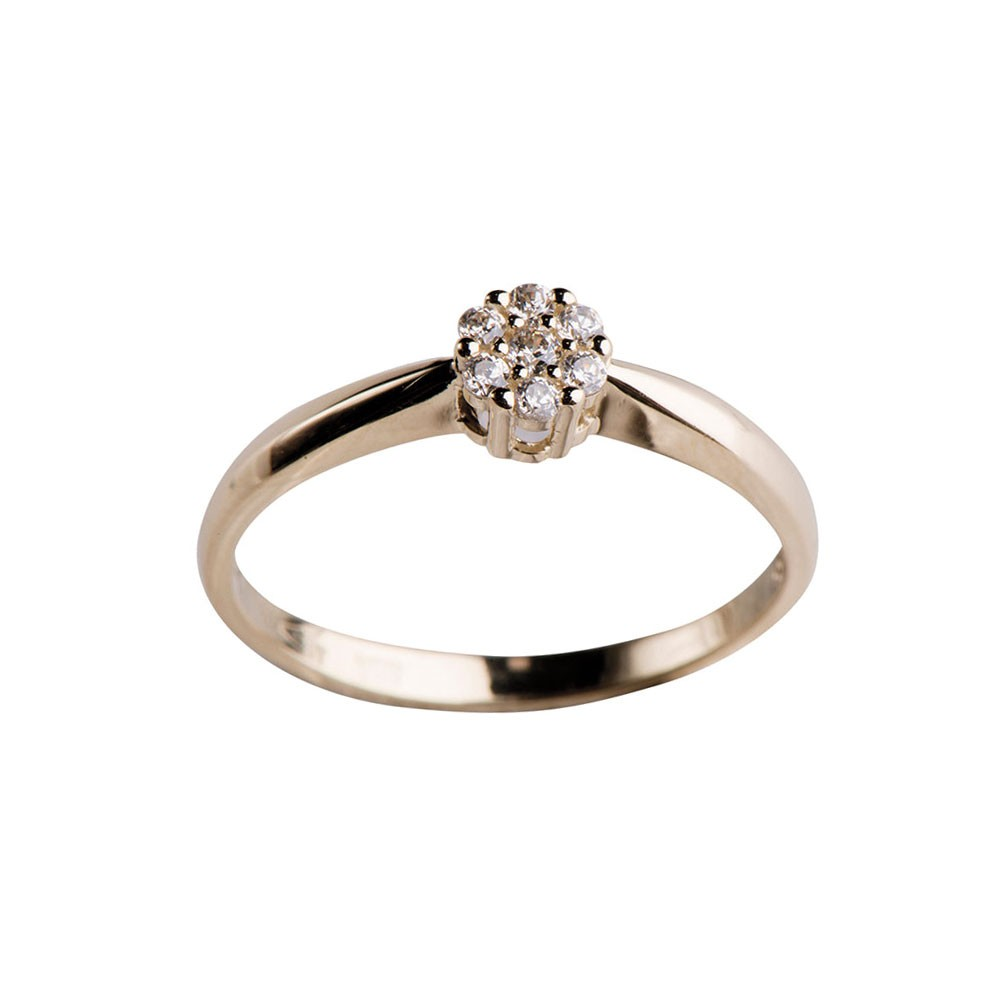 Image of   8 kr ring med zirkonia - 142 1346CZ5 Størrelse 54