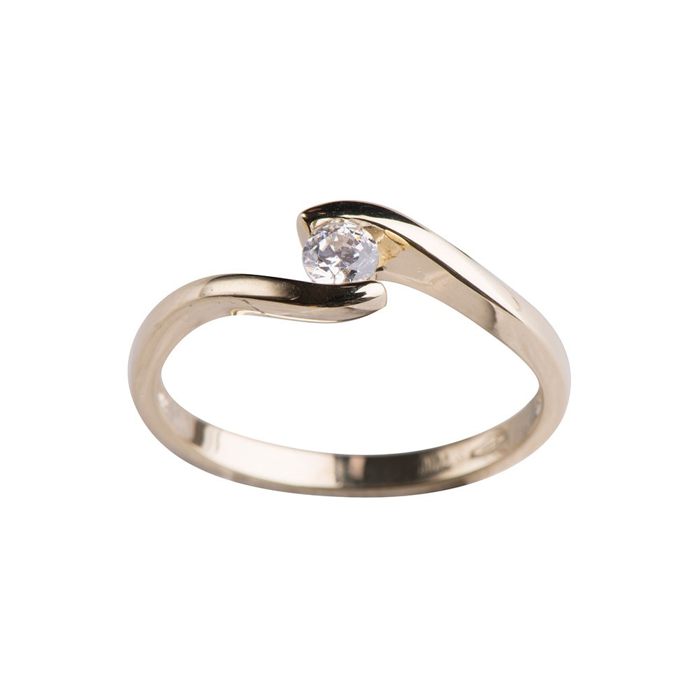 Image of   Nordahl Andersen 8 karat ring m/ zirkonia - 142 1397CZ3 Størrelse 50