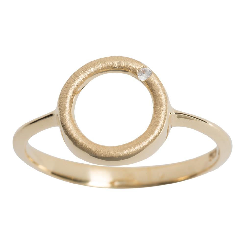 Billede af Nordahl Cirkel forgyldt ring - 144602 Størrelse 52