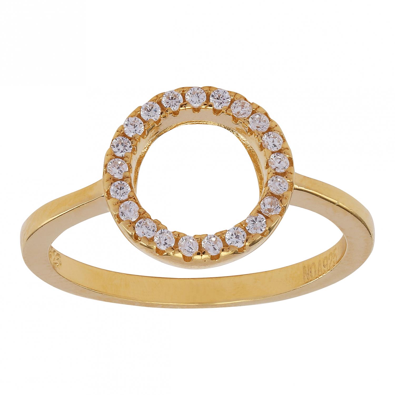 Billede af Forgyldt sølv ring Anna - 145 034-3 Størrelse 52