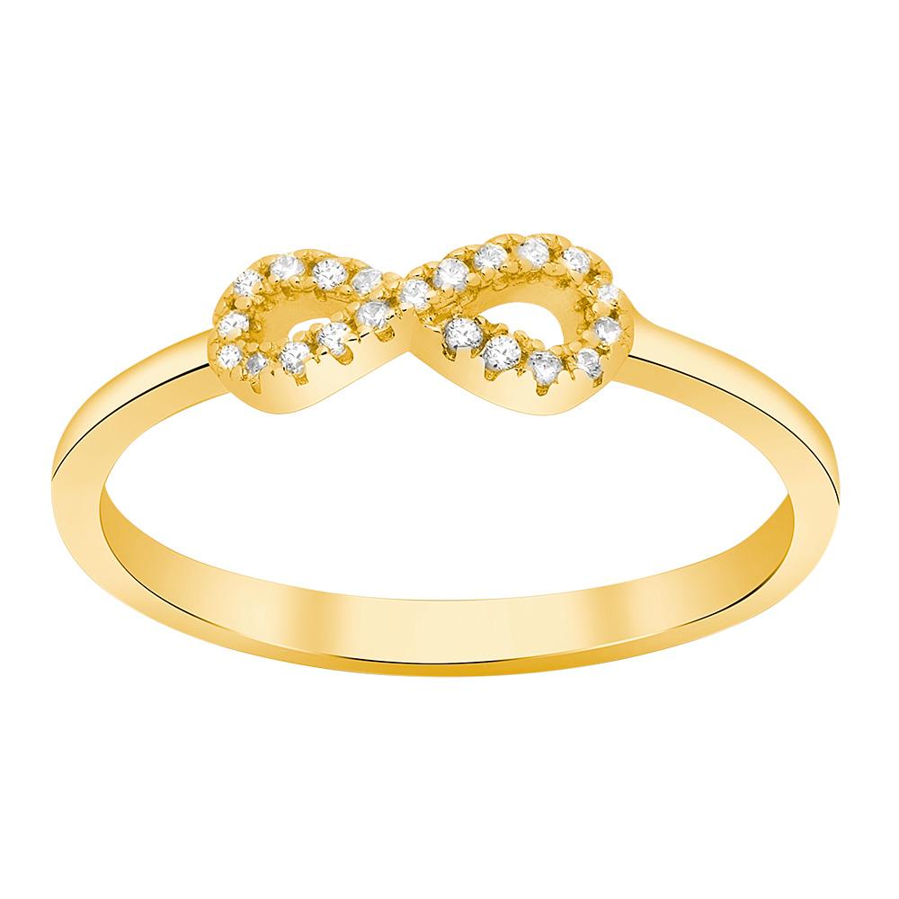 Billede af Forgyldt sølv ring Agna - 145 076-3 Størrelse 56