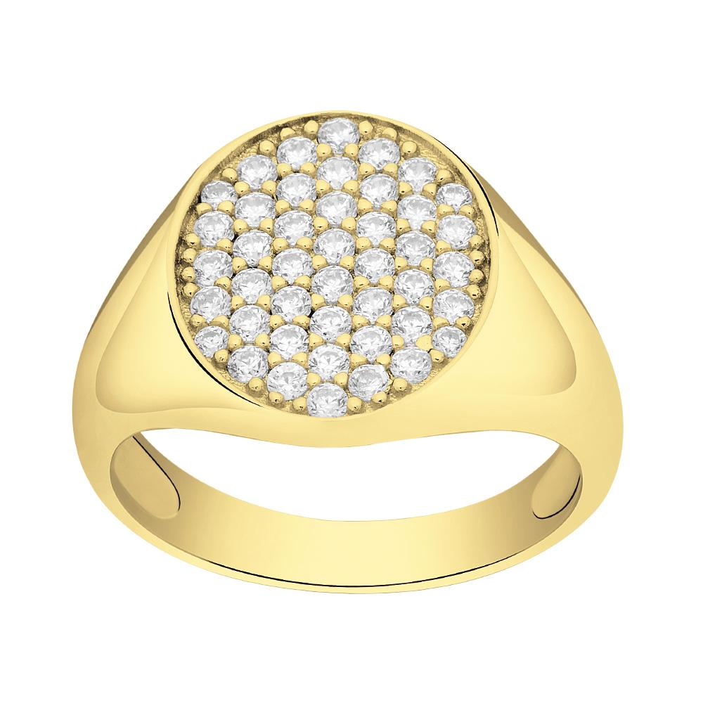 Billede af Forgyldt sølv ring Aya - 145 077-3 Størrelse 52