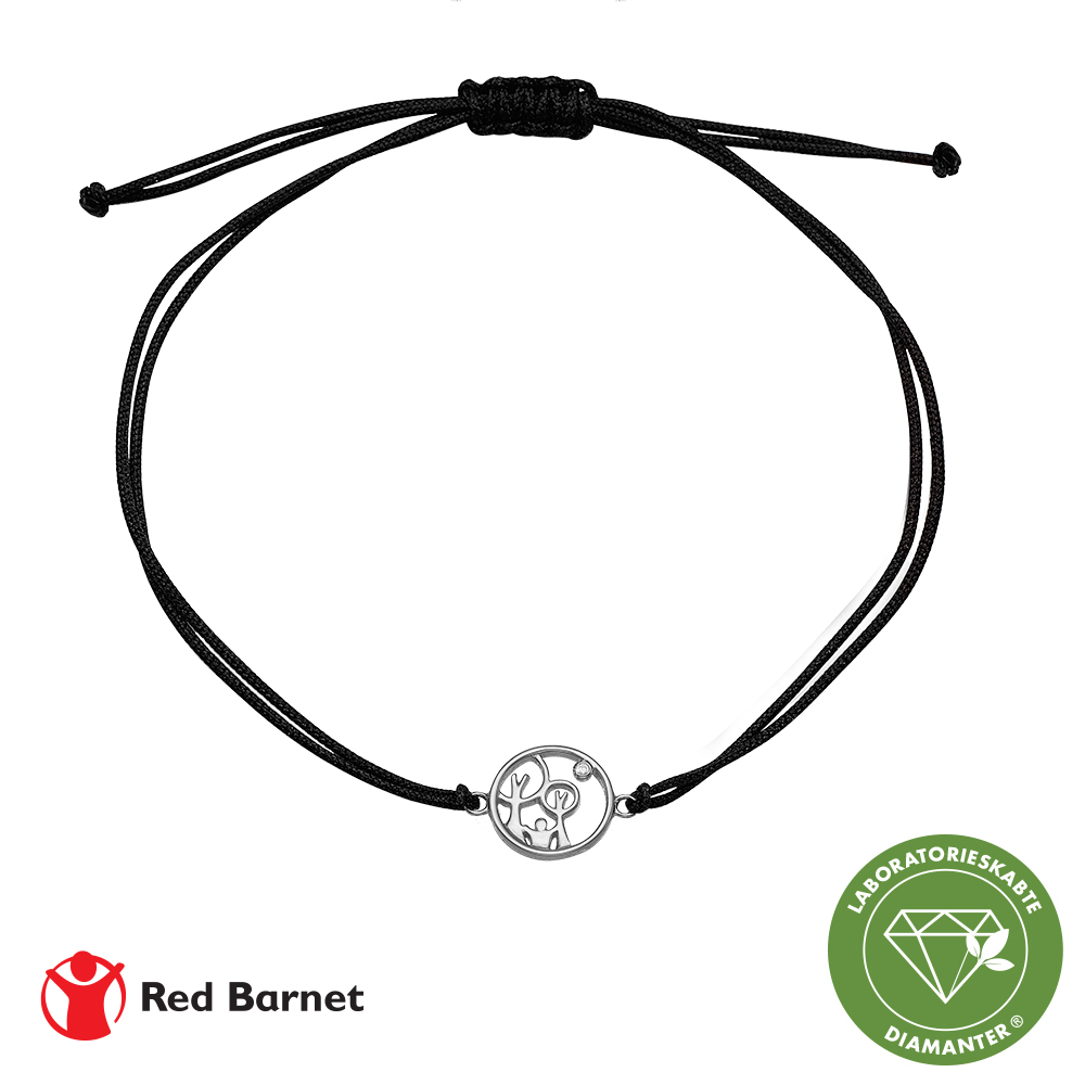Image of AAG Red Barnet, armbånd, sølv m/1 x 0,01 ct LG diamant TW/ SI2 1601-KV-RB-S