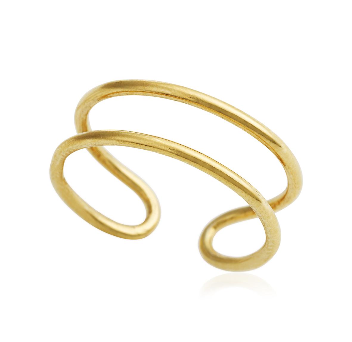 Image of   Forgyldt sølv ring - 1672-2 XS/S