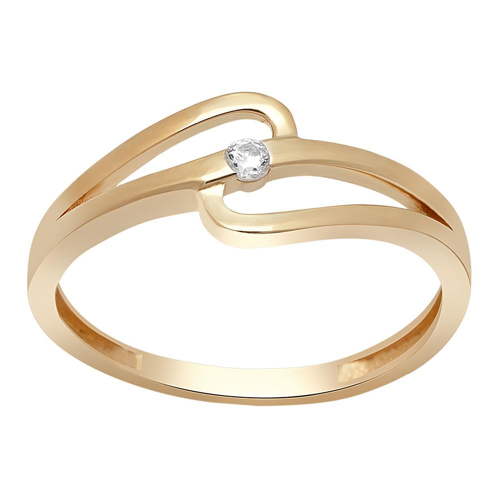 Image of   8 kt ring med zirkonia - 183 021CZ3 Størrelse 51