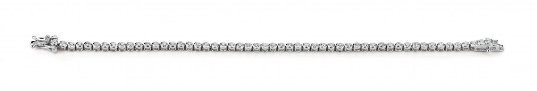 Image of   Aagaard Rhodineret sølv armbånd med zirkonia - 21103658-18 18 centimeter