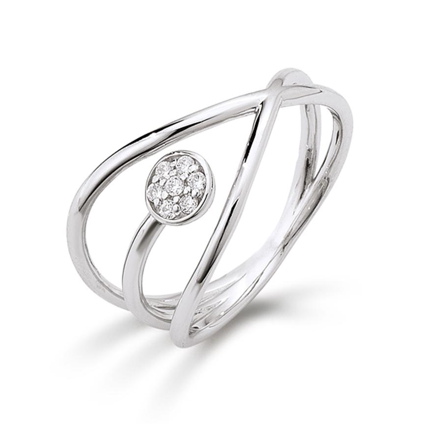 AAGAARD sølv ring med synt. zirkonia - 21623523-75 Størrelse 54