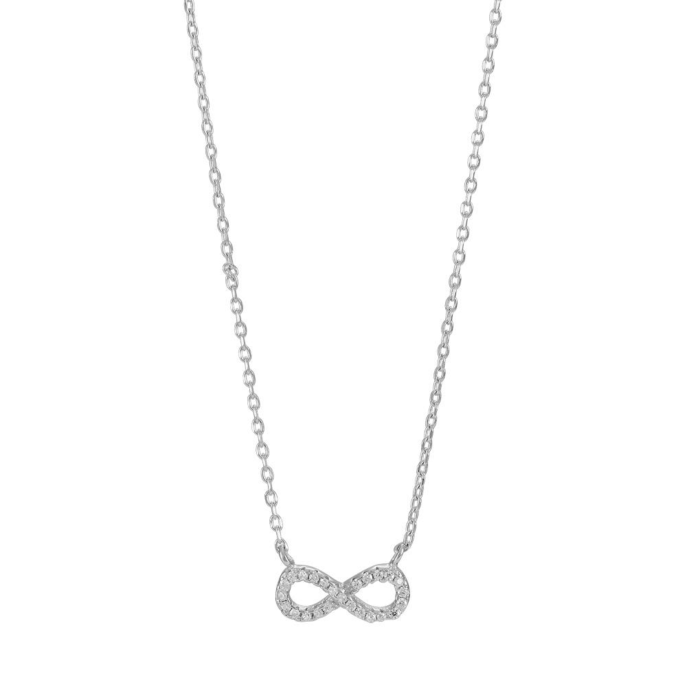 Image of Rhodineret sølv halssmykke Agna - 245-051