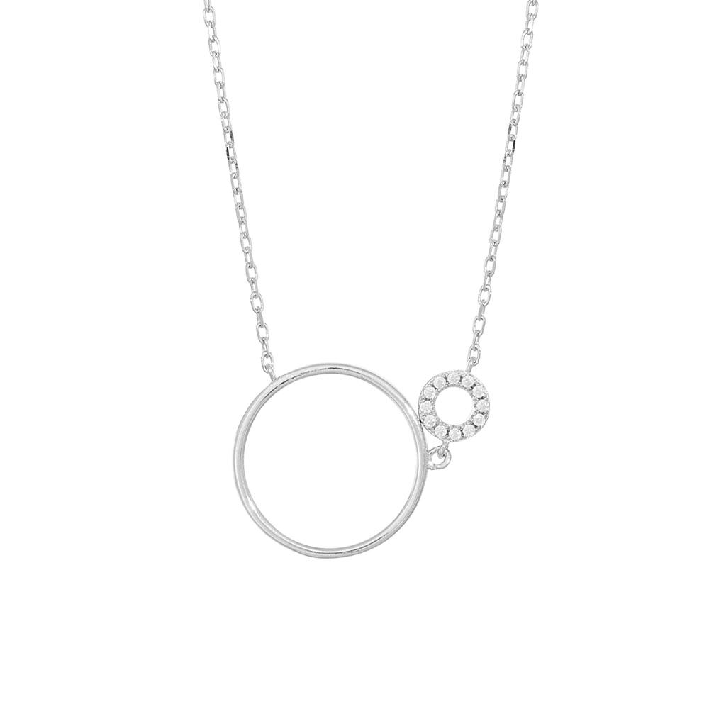 Image of Rhodineret sølv kæde med vedhæng DONNANOR - 246-003