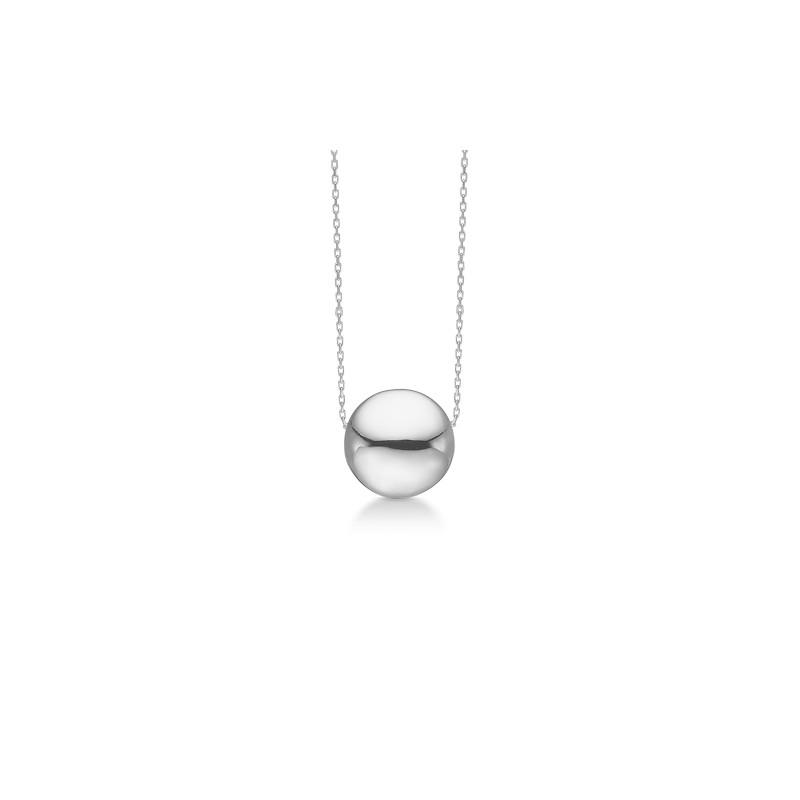 """Mads z sølv halskæde """"ball"""" kugle 90 cm - 3120124 fra mads ziegler fra brodersen + kobborg"""