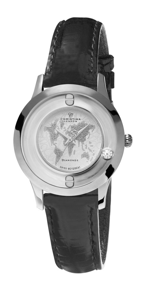 christina watches – Christina collect world 32 mm - 334swbl-worldk fra brodersen + kobborg