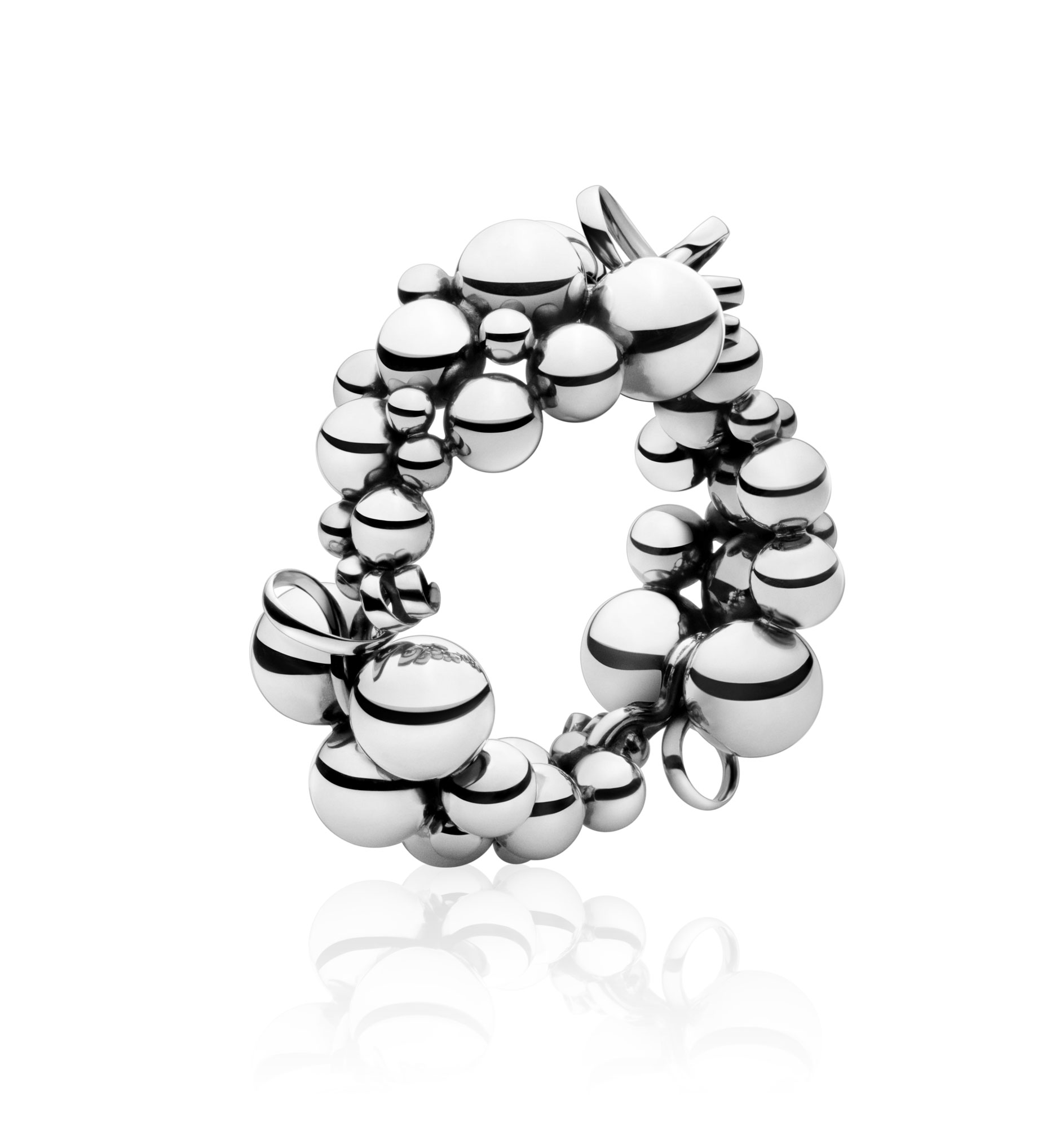 Georg Jensen Moonlight Grapes armbånd - 3530269 Sølv M/L