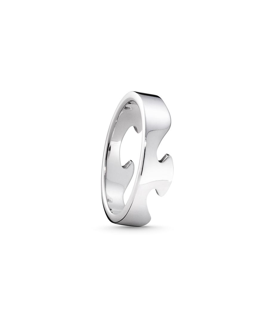 georg jensen – Georg jensen fusion ring - 3546000 størrelse 52 på brodersen + kobborg