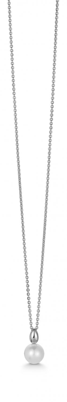 Image of   Aagaard 14 kt vedhæng med rhodineret sølv kæde - 44333764-45