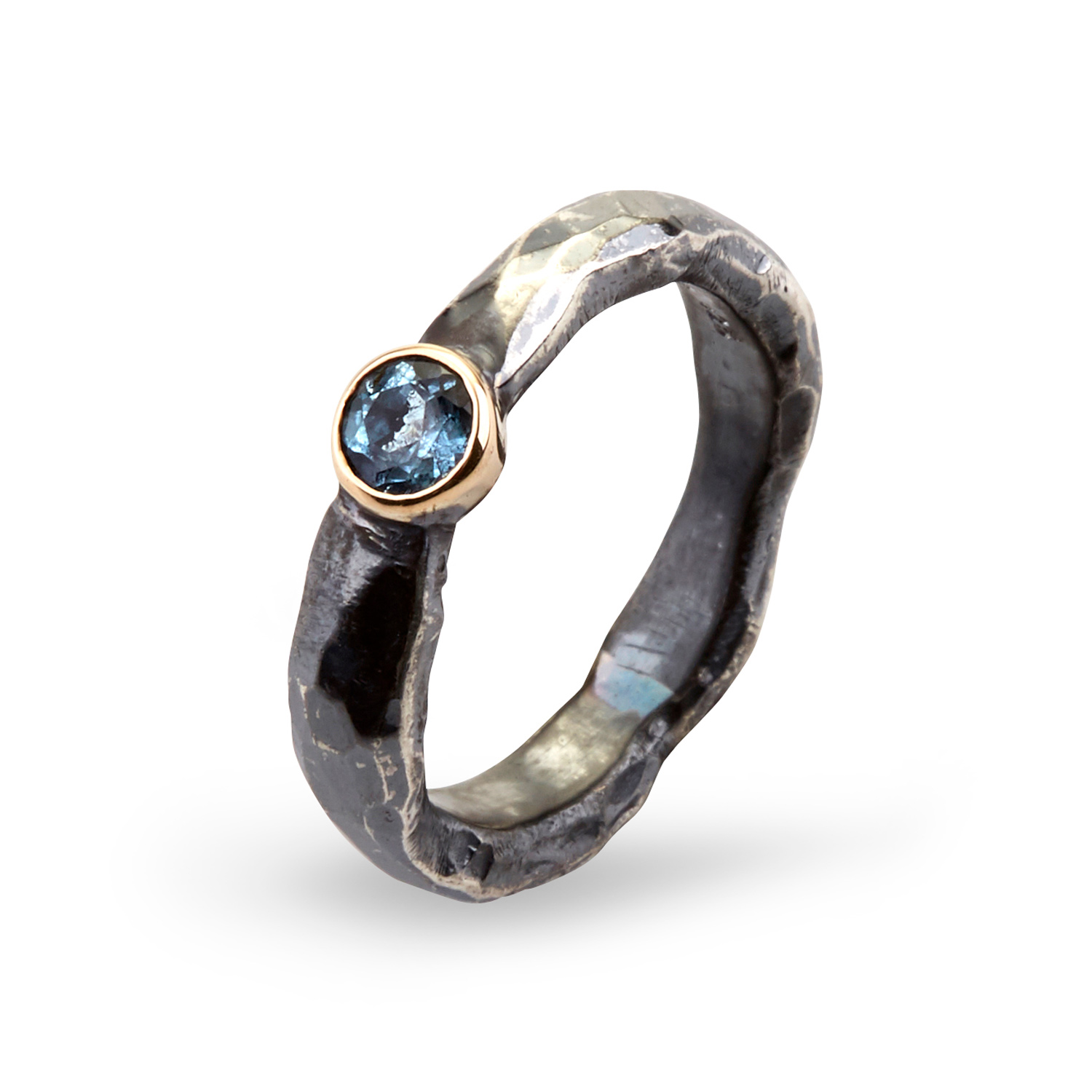Image of   By Birdie Heritage Stone Agua ring - 50110171A Størrelse 57