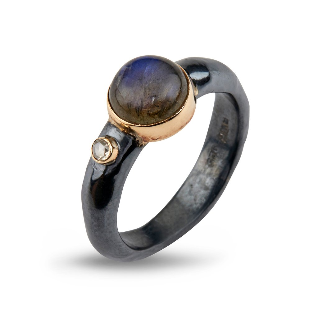 Image of   By Birdie Ring Antique Labradorite - 50110204C Størrelse 54