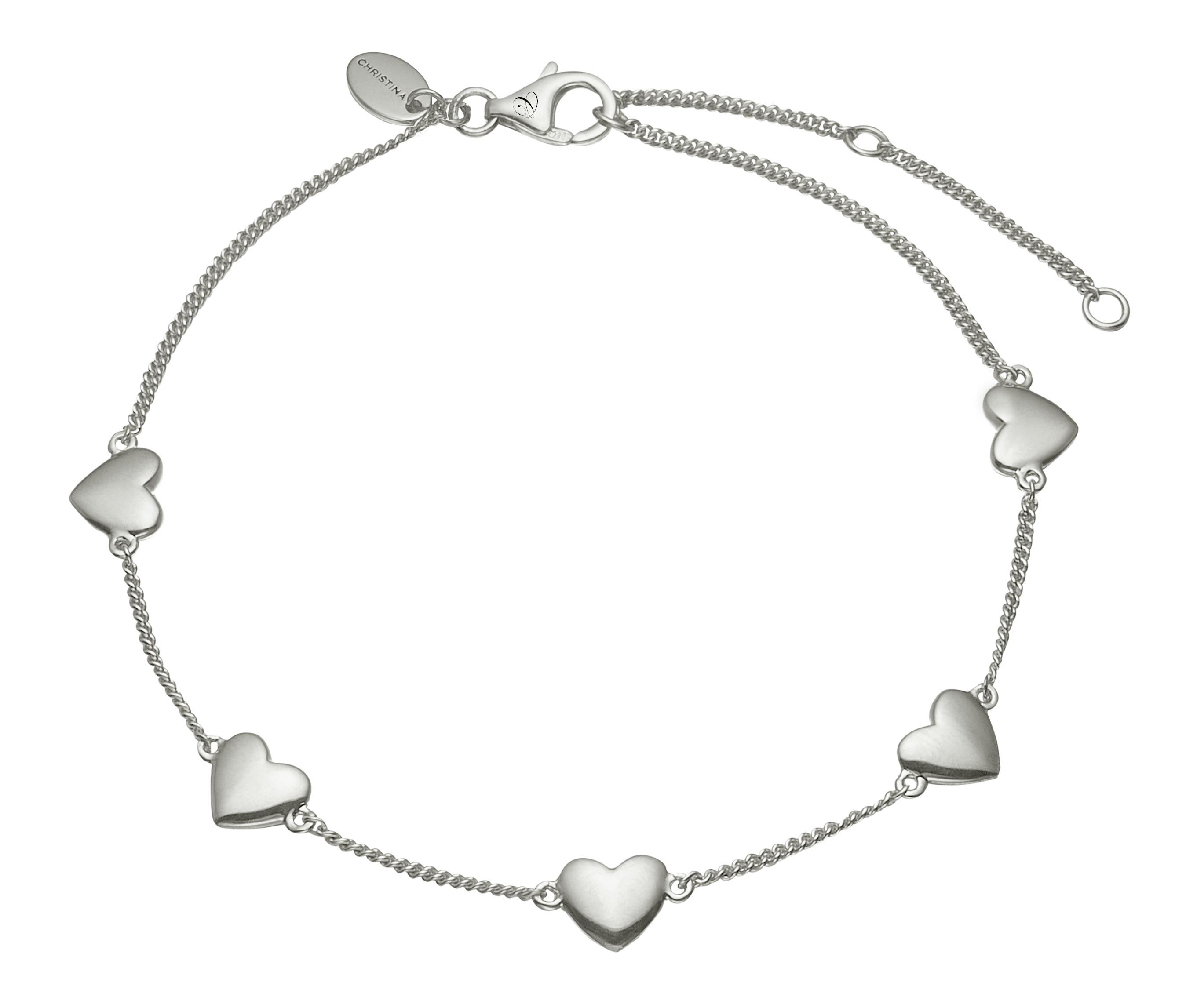 Christina sølv armlænke forever love - 601-s14 fra christina watches fra brodersen + kobborg